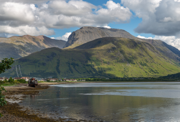 view of ben nevis near fort william